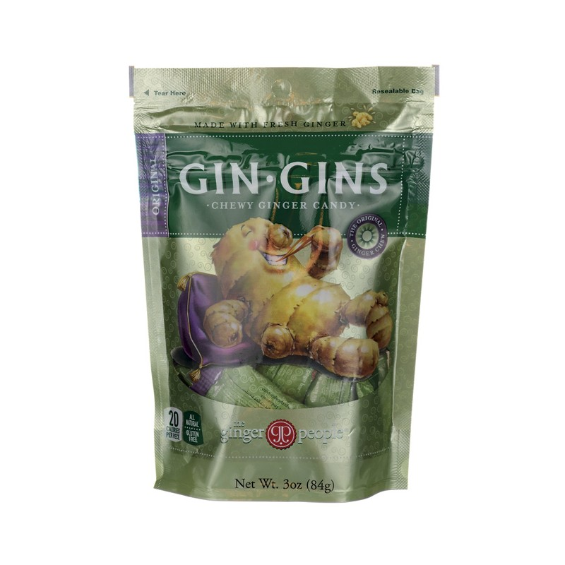 GinGins Chewy Ginger Candy Original, 3 oz Pkg