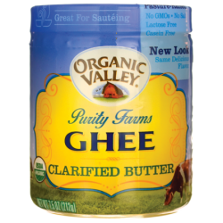 Organic Ghee Clarified Butter, 7.5 oz (212 grams) Solid Oil