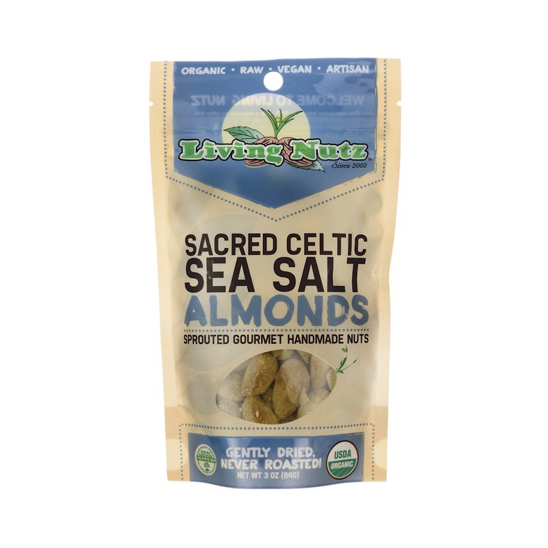 Sacred Celtic Sea Salt Almonds, 3 oz Pkg