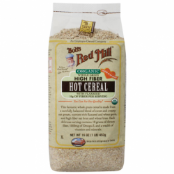 Organic Whole Grain High Fiber Hot Cereal with Flaxseed, 16 oz (453 grams) Pkg
