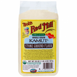Organic Whole Grain Kamut Stone Ground Flour, 20 oz (567 grams) Pkg