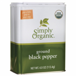 Ground Black Pepper, 4.0 oz (113.4 grams) Pwdr