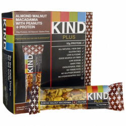 Kind Plus Bars Almond Walnut and Macadamia Plus Protein, 12 Bar(s)