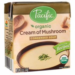 Organic Cream of Mushroom Condensed Soup, 12 oz (340 grams) Pkg