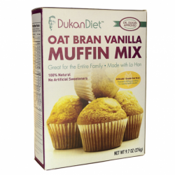 Oat Bran Muffin Mix Vanilla, 9.7 oz Pkg