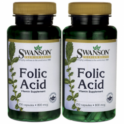 Folic Acid, 800 mcg 500 Caps