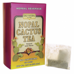 Nopal Cactus Tea No Caffeine  Natural Mint Flavor, 20 Bag(s)