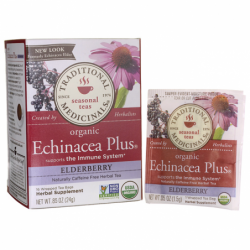 Organic Echinacea Plus  Elderberry Tea, 16 Bag(s)