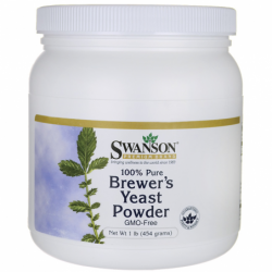 100 Pure Brewers Yeast Powder GMOFree, 1 lb (454 grams) Pwdr