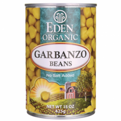 Garbanzo Beans Chick Peas Organic, 15 oz (425 grams) Can