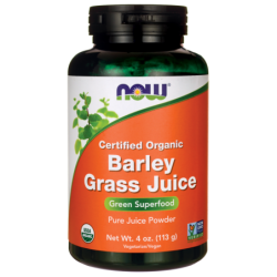 Certified Organic Barley Grass Juice, 4 oz (113 grams) Pwdr