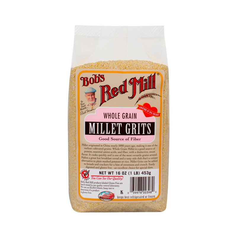 Whole Grain Millet Grits, 16 oz (453 grams) Pkg