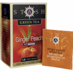Ginger Peach Green Tea with Matcha, 18 Bag(s)