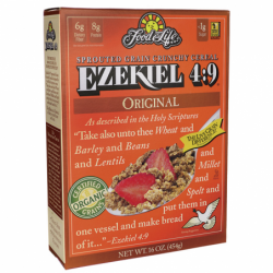 Ezekiel 49 Sprouted Grain Crunchy Cereal  Original, 16 oz Box