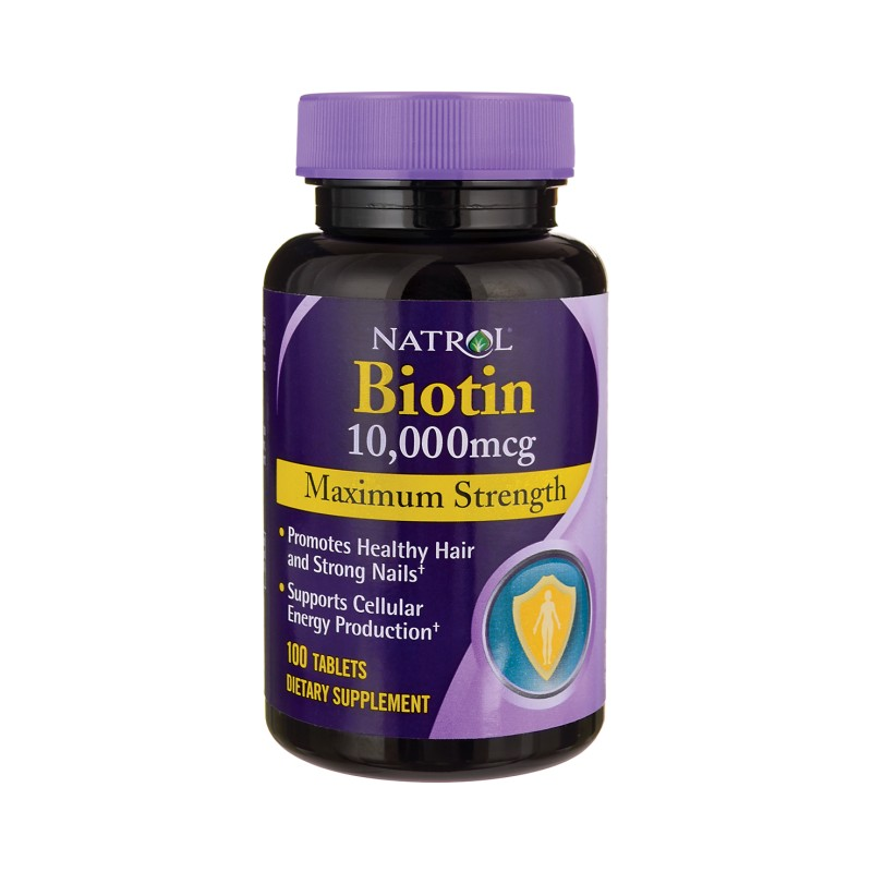 Biotin Maximum Strength, 10,000 mcg 100 Tabs