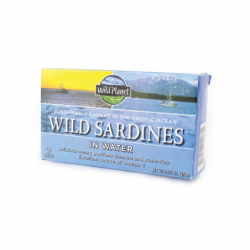 Wild Sardines in Water, 4.375 oz (125 grams) Can