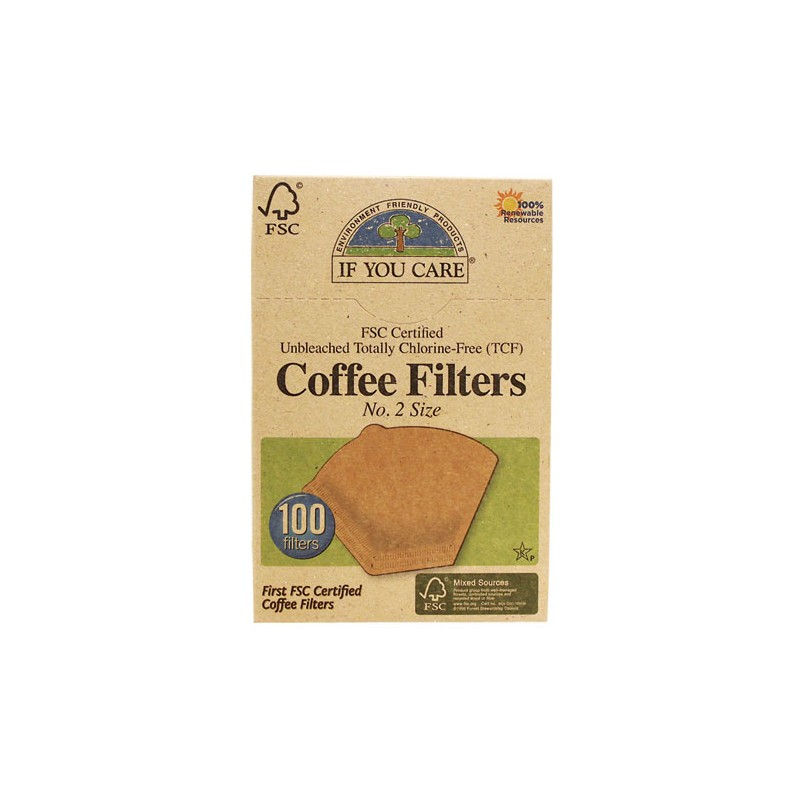 Unbleached Coffee Filters No 2, 100 Ct