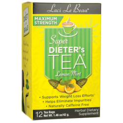 Maximum Strength Dieters Tea Lemon Mint, 12 Bag(s)