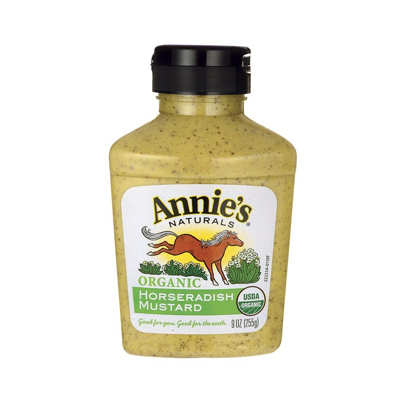 Organic Horseradish Mustard, 9 oz (255 grams) Bottle(s)