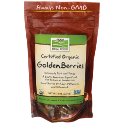Certified Organic Golden Berries, 8 oz (227 grams) Pkg