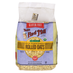 Gluten Free Organic Old Fashioned Rolled Oats, 32 oz (907 grams) Pkg