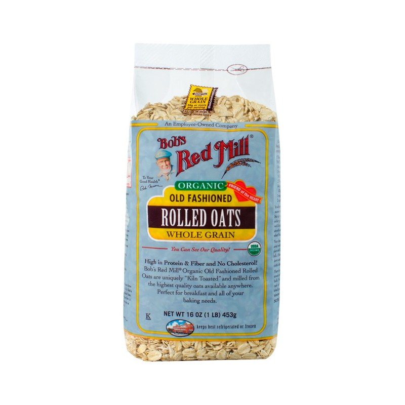 Organic Old Fashioned Rolled Oats, 16 oz (453 grams) Pkg