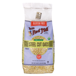 Organic Steel Cut Oats, 24 oz (680 grams) Pkg