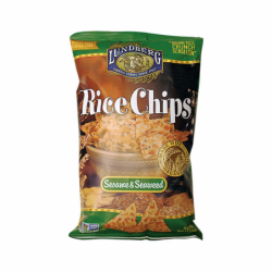 Rice Chips Sesame and Seaweed, 6 oz Pkg