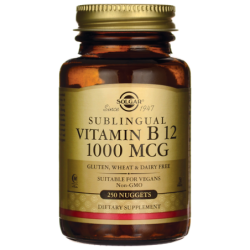 Sublingual Vitamin B 12, 1,000 mcg 250 Ct