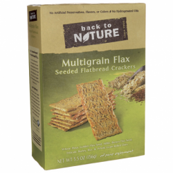 Multigrain Flax Seeded Flatbread Crackers, 5.5 oz Box