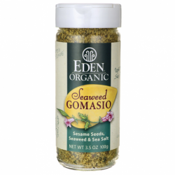 Organic Seaweed Gomasio  Sesame Seeds, Seaweed & Sea Salt, 3.5 oz (100 grams) Jar