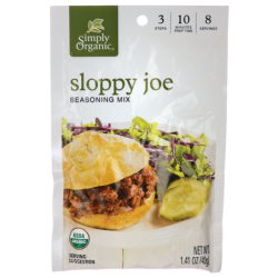 Sloppy Joe Seasoning Mix, 1.41 oz (40 grams) Pkg
