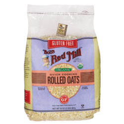 Gluten Free Organic Quick Cooking Rolled Oats, 32 oz (907 grams) Pkg