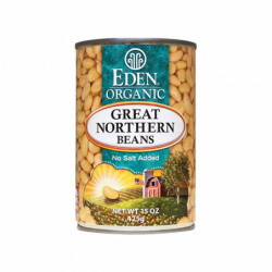 Great Northern Beans Organic, 15 oz (425 grams) Can