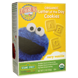 Organic Letter of the Day Cookies  Very Vanilla, 5.3 oz (150 grams) Box