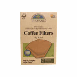Unbleached Coffee Filters No 6, 100 Ct