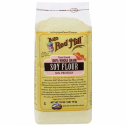 Stone Ground Soy Flour, 16 oz (453 grams) Pkg