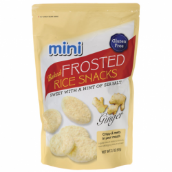 Mini Baked Frosted Rice Snacks  Ginger, 2 oz (57 grams) Pkg
