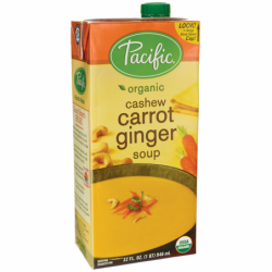 Organic Cashew Carrot Ginger Soup, 32 fl oz (946 mL) Pkg