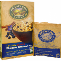 Organic Instant Hot Oatmeal Cinnamon Blueberry Flaxseed, 8 Pkts