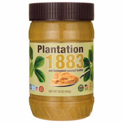 Plantation 1883 Old Fashioned Peanut Butter, 16 oz (454 grams) Jar