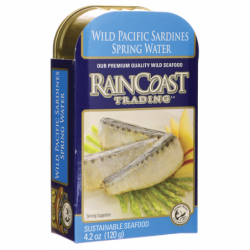 Wild Pacific Sardines in Spring Water, 4.2 oz Can