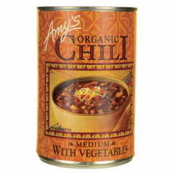 Organic Chili with Vegetables Medium, 14.7 oz (416 grams) Can