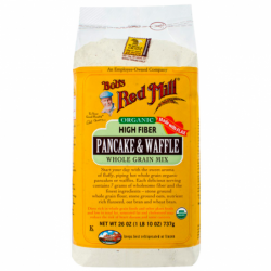 Organic Pancake Waffle Mix High Fiber, 26 oz (737 grams) Pkg