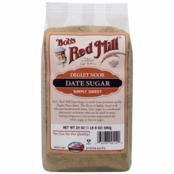 Premium Quality Date Sugar, 24 oz (680 grams) Pkg