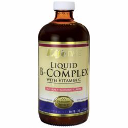 Liquid BComplex with Vitamin C  Natural Strawberry, 16 fl oz Liquid