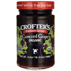 Premium Spread  Organic Concord Grape, 16.5 oz (468 grams) Jar