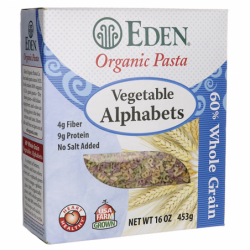 Organic Vegetable Alphabets, 16 oz Box