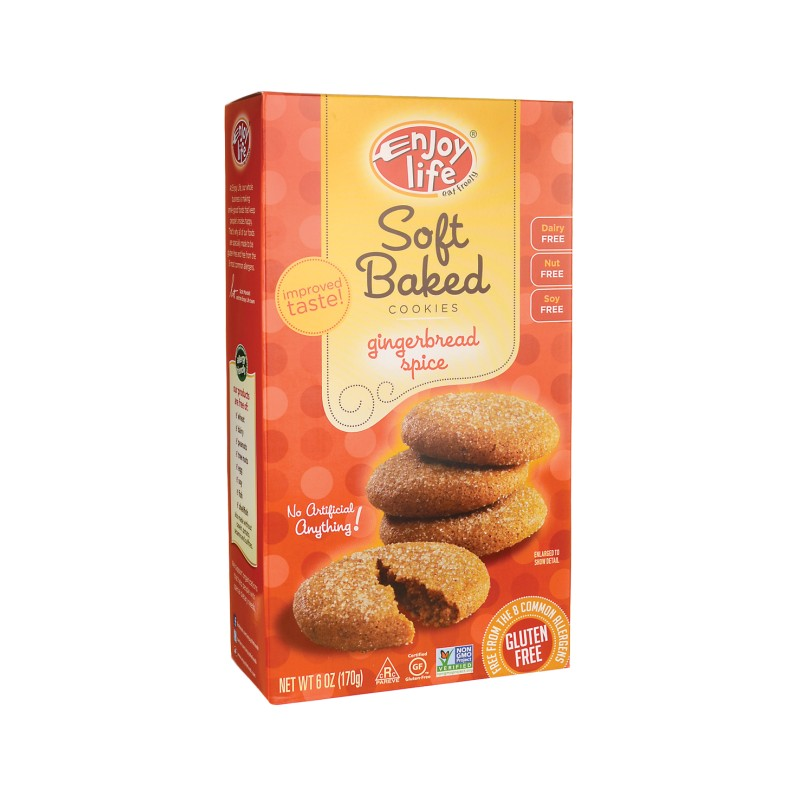 Soft Baked Cookies  Gingerbread Spice, 6 oz (170 grams) Box