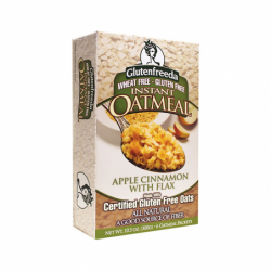 Instant Oatmeal Apple Cinnamon with Flax, 6 Pkts